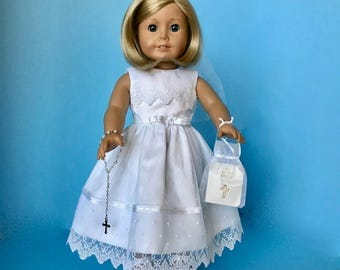 American Girl Doll: Mesh and Lace Communion Dress