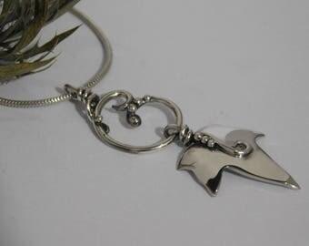 Sterling Silver Ivy Leaf Pendant, Silver Pendant, Silver Necklace, Woodland Pendant, Woodland Necklace, Elvin Necklace