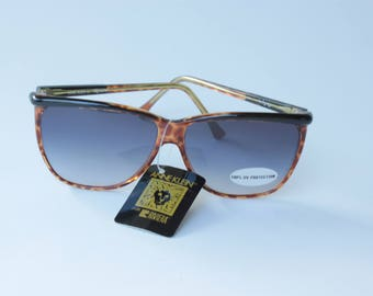 NOS Anne Klein for Riviera Aviator Sunglasses in Tortoise Shell from the 1980's - 100% UV Protection