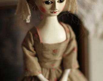 RESERVED Marilyn II, Queen Anne style wooden doll