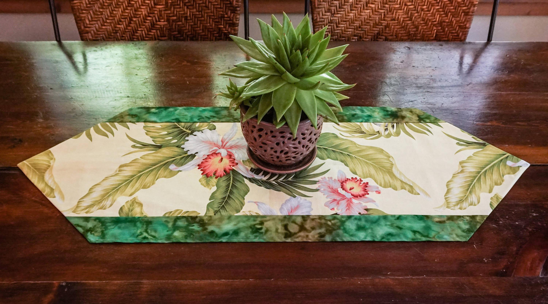 Table Runner Handmade Tropical Decor Beach Decor Hawaiian  Decor Jungalow Gift