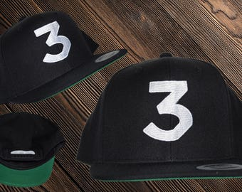 Chance  Number 3 Hat Inspired | Snap back | Chance | Chance Rapper | Chance the Rapper | 3 hat | Chance 3 | Chance Dad Hat | Chance Cap