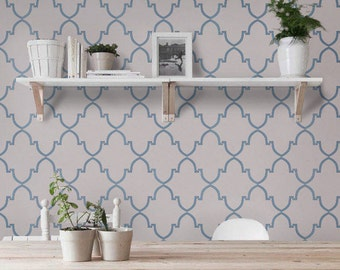 Self adhesive vinyl temporary removable wallpaper, wall decal - Moroccan pattern- 011