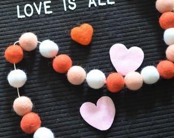 Garland Valentine love garland, pink garland