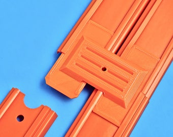 2-Lane Track Connector (6pk) - (Compatible with Hot Wheels Race Track & Cars)