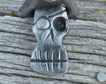 Hand forged pirate key chain, keychain, key fob, chain pull, ornament, blacksmith made