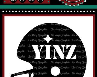 Yinz Football Helmet | Cutting File | Printable | svg | eps | dxf | png | Pittsburgh | Steelers Inspired | NFL | Gridiron | Fantasy | Humor