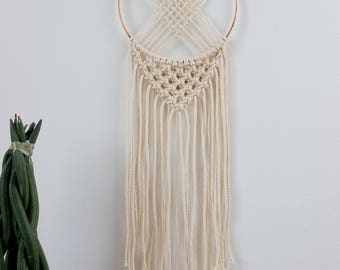 "Dreamcatcher ""Baby Copper"" - Macrame Wall Hanging - 100% coton rope - Thin Copper Circle"