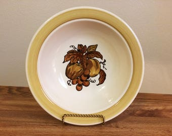 Vintage Poppytrail by Metlox Golden Fruit Serving Bowl 1960s Midcentury