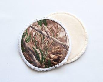 Camouflage Reusable Bamboo Velour Nursing Pads