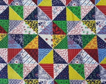 Vintage 1950-60's Cotton fabric-Quilting fabric-Cotton Quilt fabric-Retro fabric-Scrappy quilt fabric-Craft fabric Sold by the 1/2 Yard
