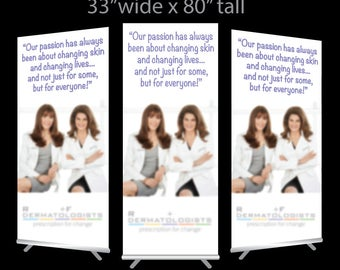 Roden & Fields Full Color Retractable Printed Standing Banner Chart Sign for Womens Skin Care Booth Trade Show Vendor Exhibit Pop up