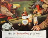 1945 Kinsey Whiskey Vintage Advertisement Bar Wall Art Man Cave Decor Lounge Home Office Decor Original Magazine Alcohol Ad Gift for Him