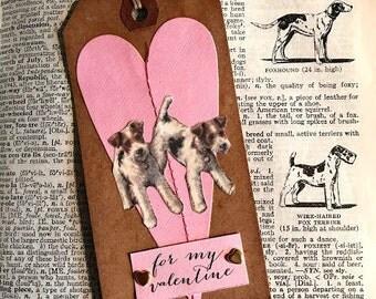 Valentine Wire Fox Terrier Duo Tag