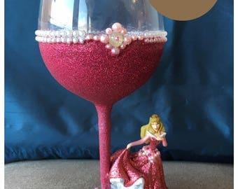 Disney Sleeping Beauty Wine Glass
