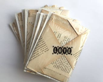 Text variety pack 30. Variety of 30 small text pages for art and collage. Vintage ephemera with mix of whites & cream pages. 30 pages.