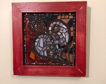 Heart Mosaic Shadow Box