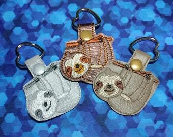 Sloth Keychain   Lover of Sloth   Sloth Key chain    Slothing Away   Key Fob   Stocking Stuffer