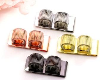Double metal spring clip pen holder | pen clip | pen loop | gold, rose gold, black or silver