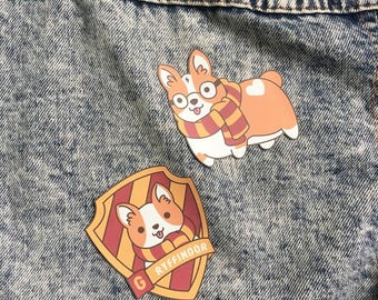 Harry Potter Patches - Iron On Patch - Cute Patches - Kawaii Patches - Dog Patch - Patches for Jacket - Cute Pin - Cute Badge - Dog Badge