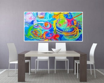 Abstract print, PRINTABLE Art, Colorful art, Abstract art, Modern painting, Abstract painting, Abstract wall art, Instant Download wall art