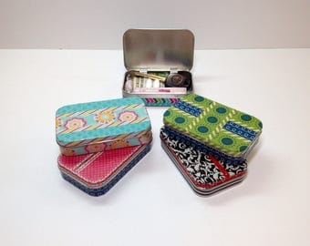 Pocket Tin, Altered Altoids Tin, Mint Tin, Pocket Purse, Key Box, Latch Key Kids, Valuables Container for Backpack or Purse, Pocket Sized