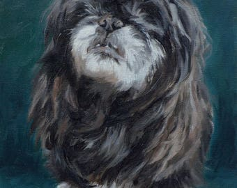 Pet portrait custom dog portrait - oil painting on stretched canvas. ***Lowest price is 50% DEPOSIT price***