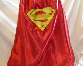 Man of Steel superhero cape, red and blue superhero, superman, childs cape, christmas gift ,dress up item, costume, handmade, custom order