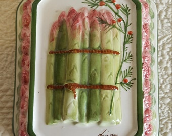 Italian Bassano Ceramiche Asparagus Kitchen Mold/ Kitchen Wall Decor/ Food Mold