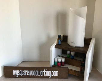 Essential Oil diffuser stand with storage