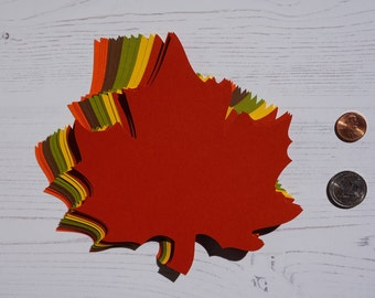 "5.6"" x 6.1"" inch Large Fall Maple Leaves Die Cuts Thanksgiving Gift Tags Scrapbooking Card embellishment Leave Punches set of 20"