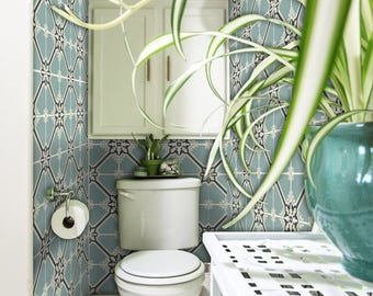 Tile Decals - Tiles for Kitchen/Bathroom Back splash - Floor decals - Samsara Celadon Tile Sticker Pack