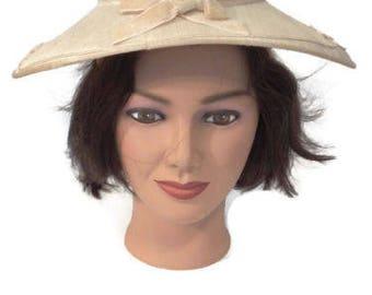 1950s saucer hat - saucer hat - saucer hat shapes - vintage hats women 1950s -  50s hat - 1950s hat