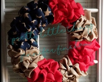 Fourth of July Wreath - Patriotic - Americana