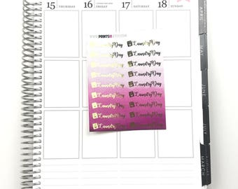 Foil Laundry Pink Planner Stickers