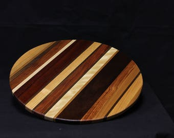 205 Exotic Striped Lazy Susan