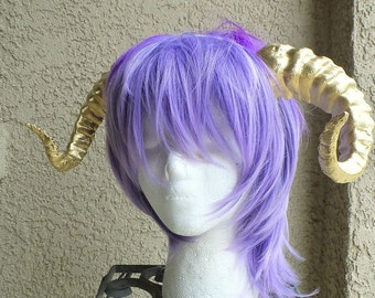 New Arrival:  Beast Grand Costume Cosplay ULTRA LIGHT WEIGHT Curled Beastly Horns Gold  Ram horns anime