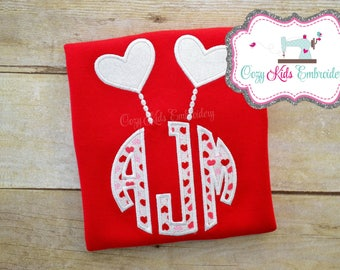 Valentine's Day shirt, Girl's Valentine's Day Shirt, Valentine's Day Heart Shirt, Heart Shirt, Applique, Embroidery