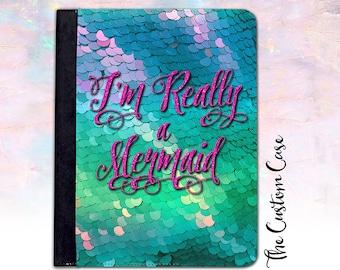Mermaid Ipad Case, I'm Really a Mermaid Ipad Case, Mermaid Scales Ipad 2/3/4 Case, Ipad Air 1/2 Case, Ipad Mini 4 Case