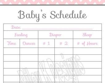 Dry Erase Newborn Feeding Tracker. Baby Shower Gift. GREEN Dry