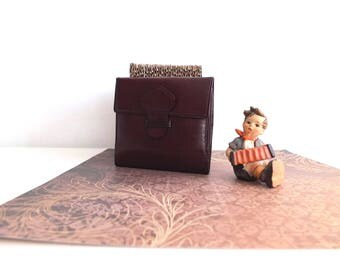Leather men/vintage brown leather wallet mens gift/vintage leather wallet/wallet / man gift/lucillesandcop/Leather-Brown