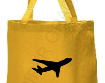 Airplane Tote Bag, Kids Tote Bag, Childrens Tote Bag, Personalized Tote Bag, Custom Tote Bag, Baby Gift Ideas