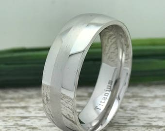 8mm Titanium Ring, Engraved Date Ring, Couples Names Ring, Family Name Ring, Bible Verse Ring, Childrens Name Ring, Couple Initials Ring