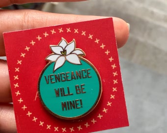 Teal mushu pin, Vengeance pin, mulan pin