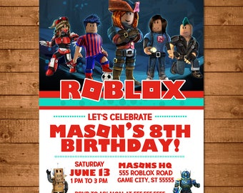 Roblox Birthday Invitation Chalkboard - Roblox Invite - Roblox Party Favors - Roblox Printable Party Printables - Video Game Birthday