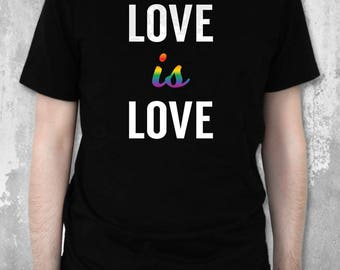 Pride Shirt | Love is Love Shirt | LGBT Pride Shirt | LGBT Gifts | Gay Rights Shirt | Gifts for Him | Gifts for Her | Printed Shirts