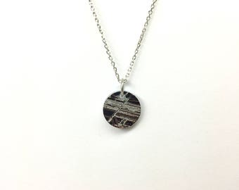 Gibeon Necklace, Meteorite Necklace, Gibeon Pendant, Meteorite Pendant, Gibeon Gold Necklace, Silver Necklace, Sterling, Gift Jewelry, Silver,