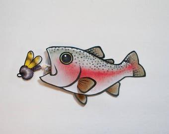 PRINTABLE : Steelhead Rainbow Trout Gift Card Case