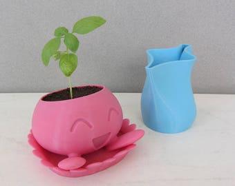 Oddish Planter / Pokemon Planter / 3D Pokemon / Cute Planter / Pink Planter / Cactus Planter / Gift for her / Birthday Gift / Video Games