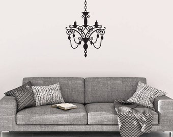 Chandelier Wall Decal - Chandelier Wall Decor - Vinyl Wall Decal - Chandelier - Wall Decals - Home Decor - Chandelier Decals - Decal